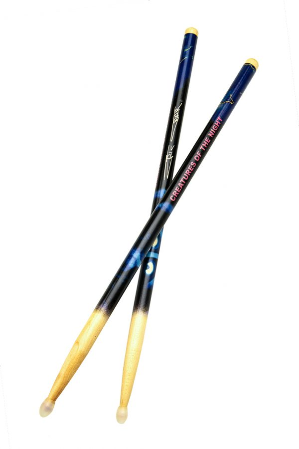 """Eric Carr signature """"Creatures of the Night"""" Sticks"""