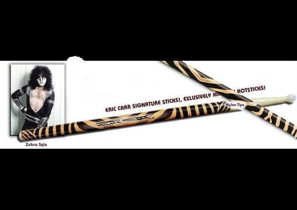 "Eric Carr Signature Sticks ""Zebra"""