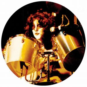 Eric Carr behind the Drums