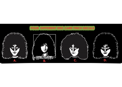 4 Different Eric Carr Decal