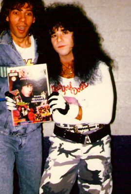 Eric Carr with Fan Sylvain Verne