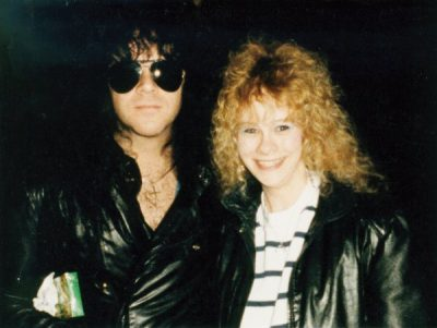Eric Carr with Fan