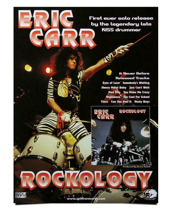 "Eric Carr ""ROCKOLOGY"" Poster"